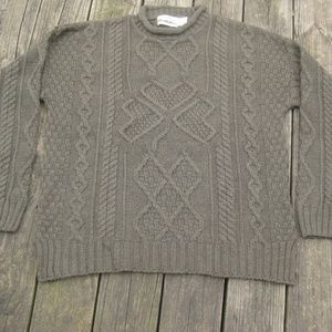 NWT ARAN CRAFTS Sweater Fishermans Hand Knit Green